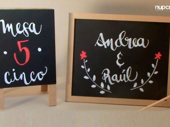 Cómo hacer falsa caligrafía para los letreros en tu boda