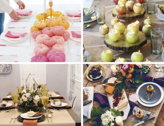 Ideas para decorar tu mesa en otoño