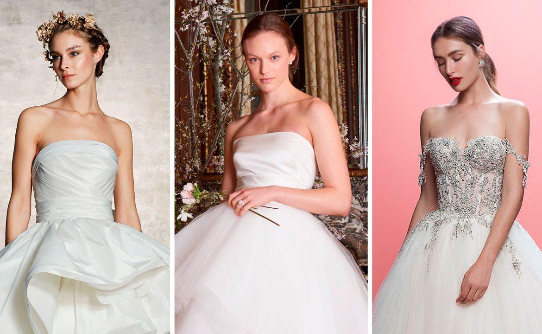 Vestidos de novia corte princesa 2019