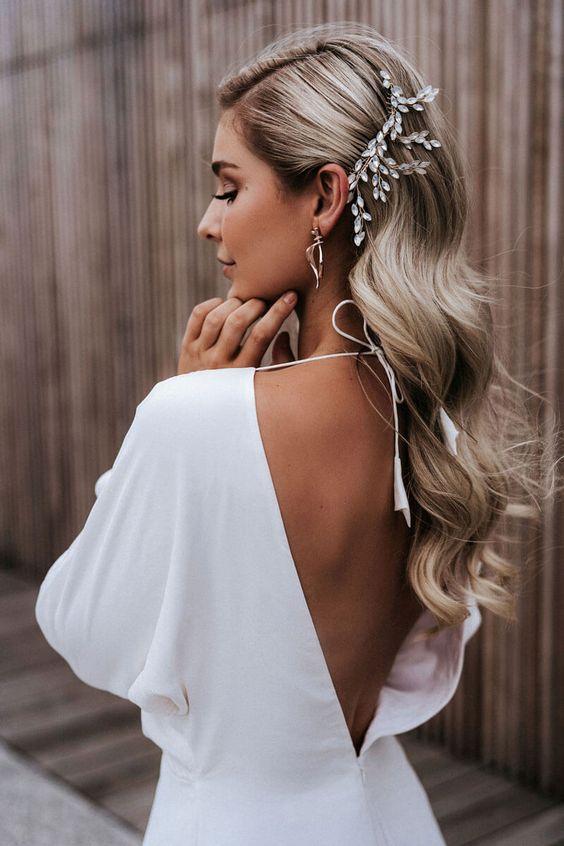 Descubre peinados para novias increibles 2020 largo o suelt